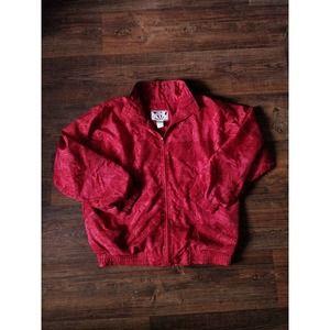 Sunterra Vintage 90s Red Windbreaker Track Jacket